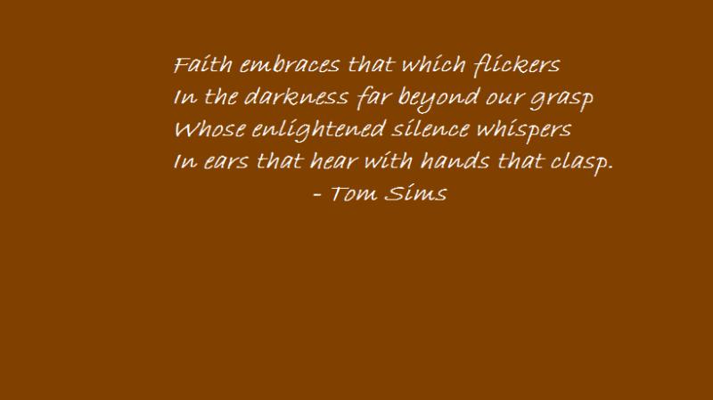 Faith flickers