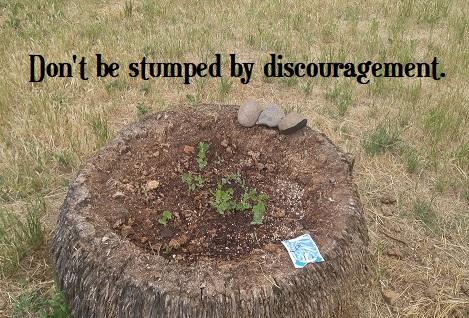 Stumped by discouragement