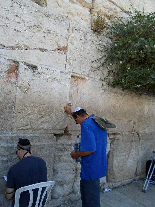 Tom at the Wailing Wall