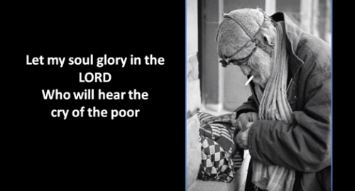 The lord hears the cry of the poor