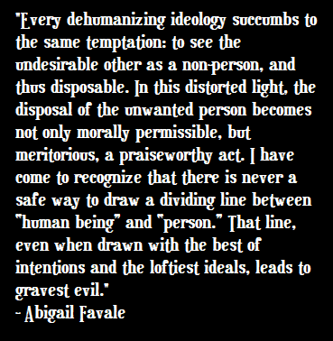 Dehumanizing ideology