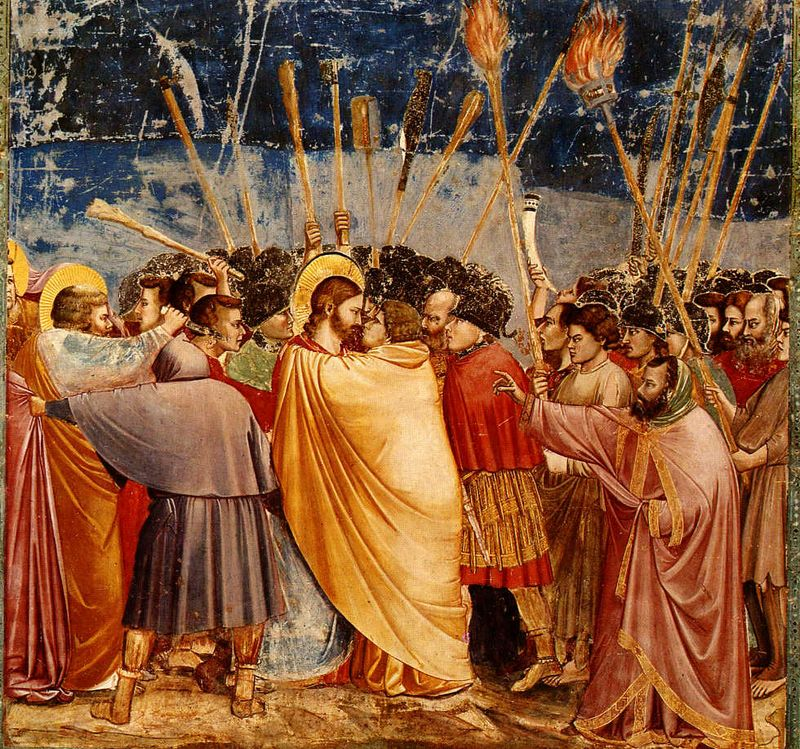 Judas Betrays Jesus - Giotto-KissofJudas