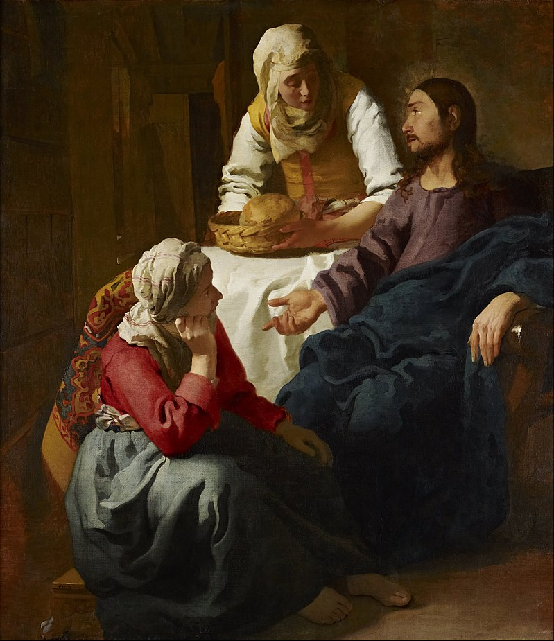 Christ_in_the_House_of_Martha_and_Mary - Christ in the House of Martha and Mary  Johannes Vermeer