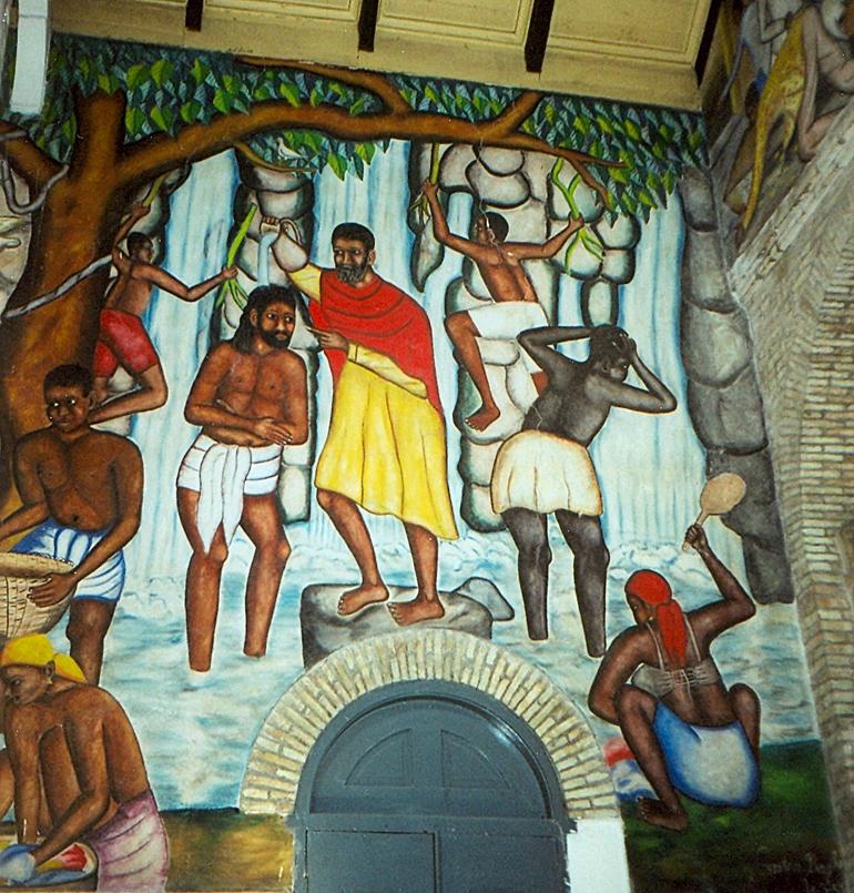 Baptism of Jesus PortauPrinceMural