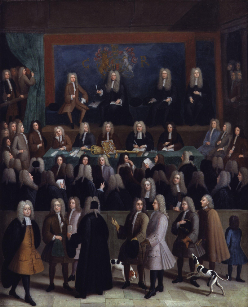 The_Court_of_Chancery_during_the_reign_of_George_I_by_Benjamin_Ferrers