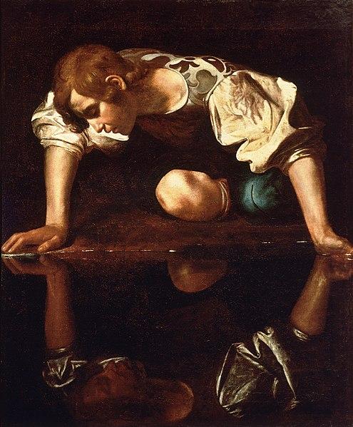Narcissus-Caravaggio_(1594-96)