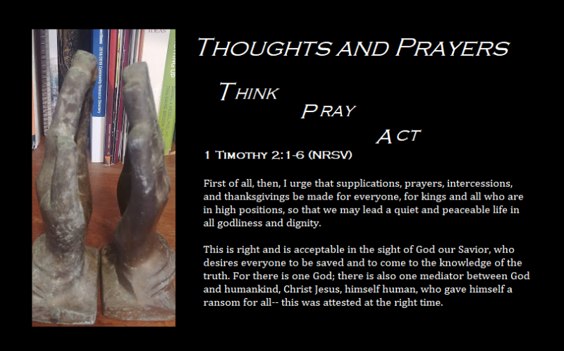 Thought and prayers