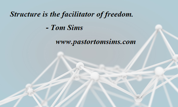 Structure facilitates freedom