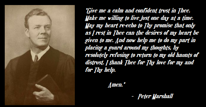 Peter marshall prayer