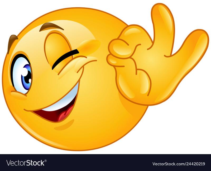 Ok-sign-winking-emoticon-vector-24420219