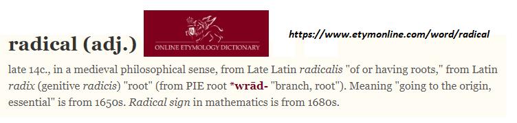 Radical etymolgy