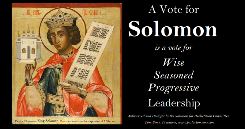 A vote for solomon
