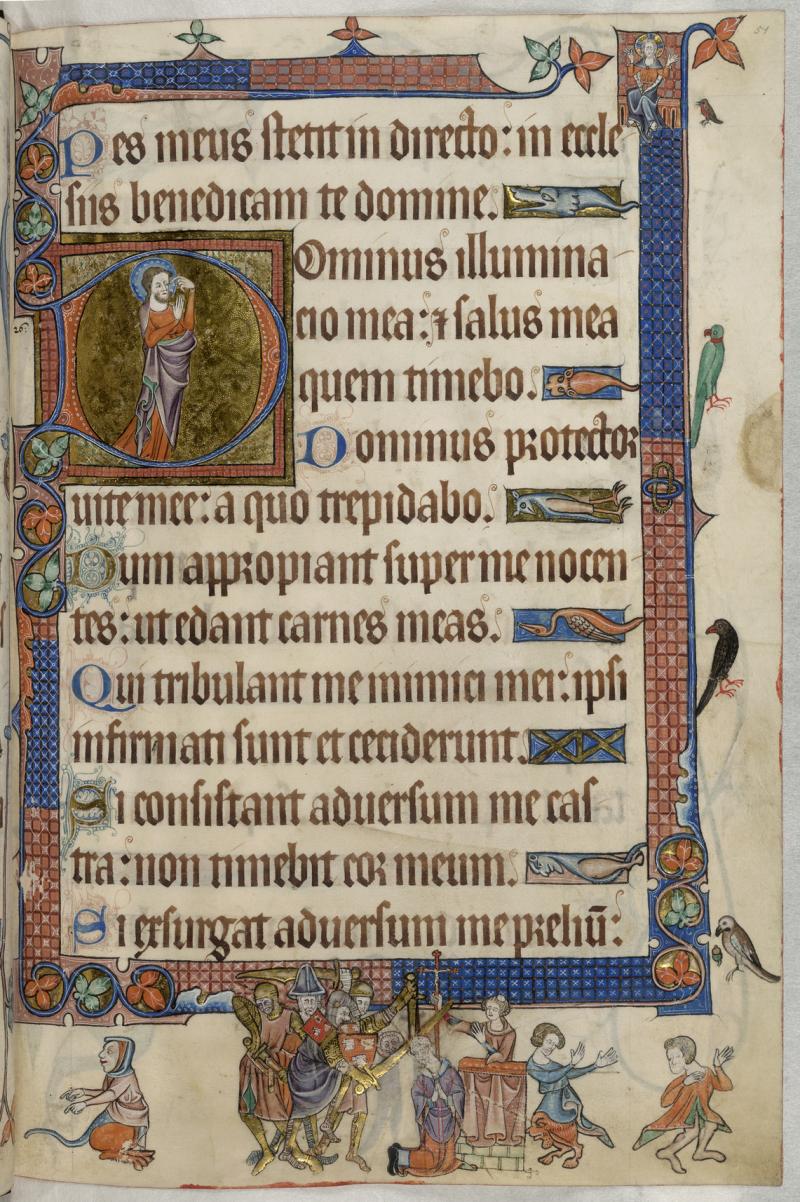 Psalm_26_(27);_Thomas_Becket_-_Luttrell_Psalter_(c.1325-1335) _f.51_-_BL_Add_MS_42130